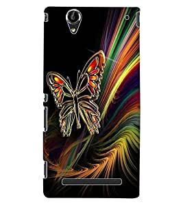 ColourCraft Butterfly Design Back Case Cover for SONY XPERIA T2 ULTRA