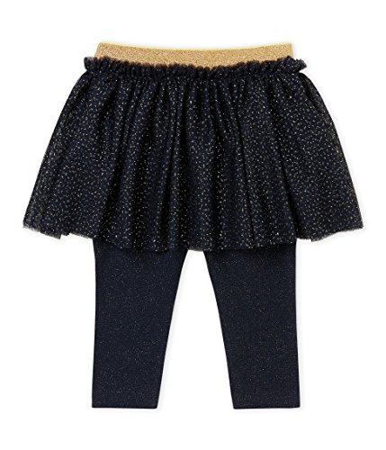 Petit Bateau Baby-Mädchen Leggings CALEÇON Long_4437501, Mehrfarbig (Smoking/Dore 01), 86 (Herstellergröße: 18M/81cm)