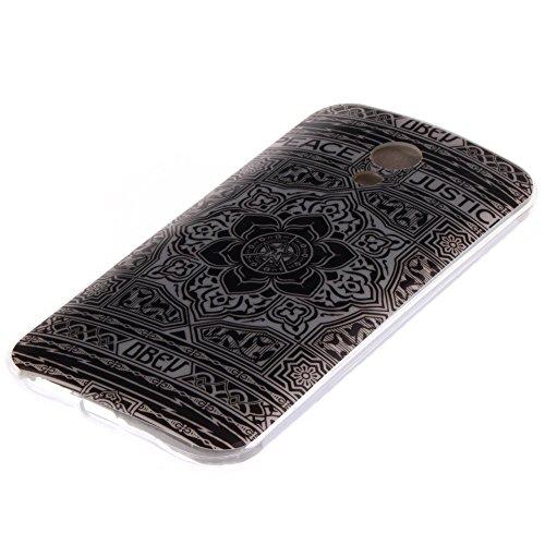 Motorola Moto G 4G 5-Inch 2nd Generation hülle MCHSHOP Ultra Slim Skin Gel TPU hülle weiche Silicone Silikon Schutzhülle Case für Motorola Moto G 4G 5-Inch 2nd Generation - 1 Kostenlose Stylus (Löwenz Blumen Tribal Aztec (Flower Tribal Aztec)