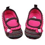 Malloom® Baby Weich Sohle Krippe Gehhilfe Schuhe (13CM, schwarz)