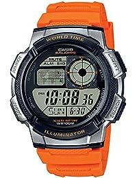 Casio AE-1000W-4BVEF - Reloj de pulsera hombre, Resina, color Naranja