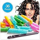 36 rulos suaves y flexibles para rizar el cabello y crear bucles
