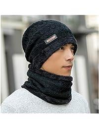 dc0dc027244b PENGFEI Bonnet Chapeau Écharpe Mâle Hiver Tricot Garder Au Chaud Coupe-Vent  Protection Contre Le