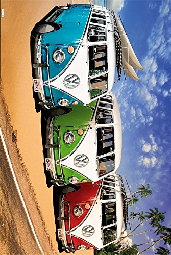 GB eye LTD, VW Camper, Campers Beach, Maxi Poster, 61 x 91,5 cm