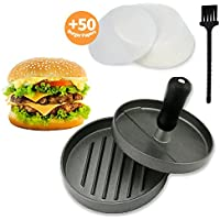 Joyoldelf Non-Stick Premium Aluminum Hamburger Patty Maker - Burger Press - For Stuffed, Sliders and Regular Burgers - For Bacon, Sausage and Hamburgers - Durable, Makes Perfect Patties Every Time