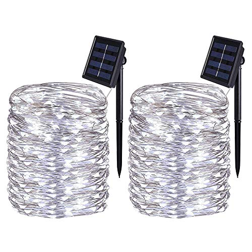[2 Pack] BOLWEO Solar Powered St...