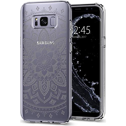 Samsung Galaxy S8 Plus Hülle, Spigen® [Liquid Crystal] Indische Sonne Muster [Shine Clear] Soft Flex Bumper Style Premium TPU Silikon Handyhülle Passgenaues Transparent Traumfänger Mandala Design Motiv Schutzhülle für Samsung Galaxy S8 Plus Case Cover, Sa
