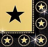 Amscan 16 Servietten 20er Jahre Hollywood Party Deko 20s Geburtstag Tischdeko Gold Schwarz