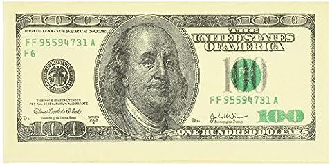 Money Napkins 100 Dollar Bill Design - Double Pack 20