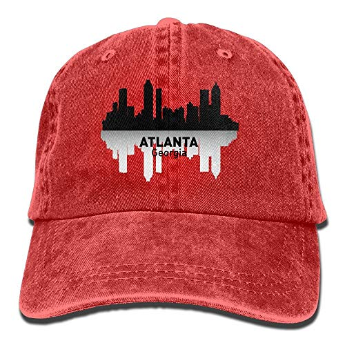 ingshihuainingxiancijies Atlanta Georgia Denim Baseball Caps Hut Einstellbare Cotton Sport-Bügel-Kappe für Männer Frauen
