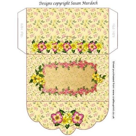 Busta regalo/denaro Portafoglio–Donna–Floreale–Rose by Susan Murdoch