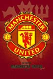 #4: Love st. - Manchester United Logo Football Special Paper Poster 12x18 inches for Home & Office