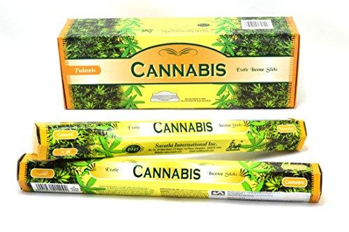 Sabor de cannabis varitas de incienso Varitas de incienso  x 120 importación india palos de joss...
