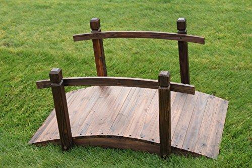 Gartenbrücke aus Holz, 1 m breit