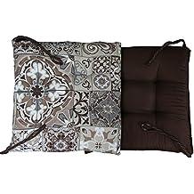 russo tessuti 6 cuscini sedie cucina coprisedia imbottiti amalfi con laccetti marrone