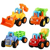 Eloka Toddler Car Toy, Friction Powered Push and Go Mixer Truck Vehicles Set
