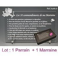 10 commandements de PARRAIN et MARRAINE - Ange texte JUNIOR - Baptême & Communion