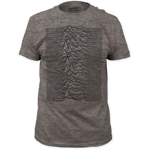 Joy Division - Uomo Pleasures Fitted T-Shirt In Heather Grigio Heather Grigio, Grigio, XX-Large