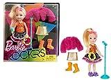 Mattel FHC00 - Barbie and Rockers - Chelsea blond mit extra Mode, Kleidung, Schuhen und Zubehör, wie Sonnenbrille, Mikro + Ständer und Tambourin