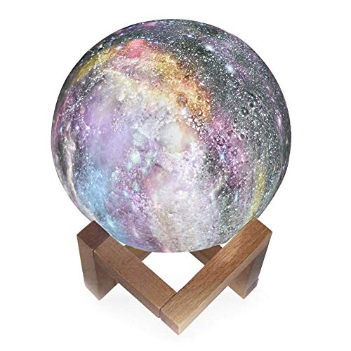 Moon Lamp, [Remote]& Touch Control, 3D-Druck, PLA-Material, USB-Aufladung, Durchmesser 7,1/18 cm, Change Moon Light für Baby Kids Friends Party ()