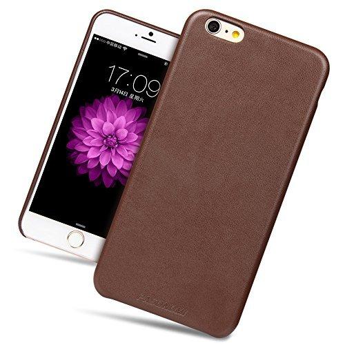 iPhone 6 Plus Hülle, Pasonomi® Premium Ultradünnes Leder Case Cover für Apple iPhone 6 Plus 5.5 Zoll - Leder Hülle mit lebenslanger Garantie (iPhone 6 Plus 5.5 Zoll, Braun) Braun