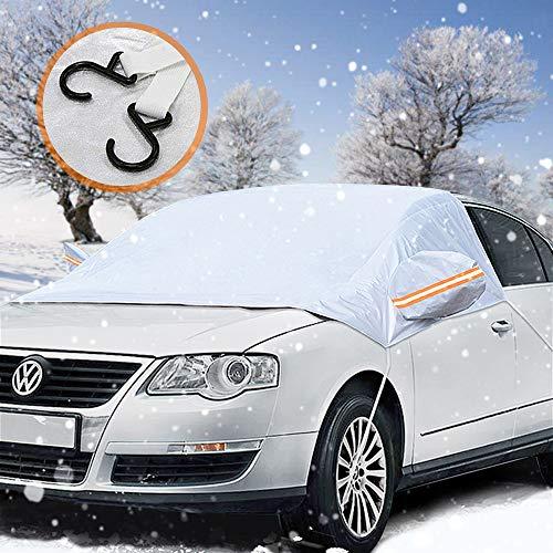 Frontscheibenabdeckung, laxikoo Auto Scheibenabdeckung Windschutzscheibe Abdeckung Faltbare Abnehmbare Auto Abdeckung für die Windschutzscheibe gegen Schnee, Frost, EIS, Sonne, und Staub