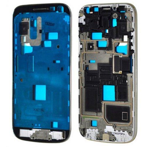 Lcd Display Bezel (Samsung Galaxy S4 Mini i9195 Display Rahmen LCD Middle Frame Bezel inkl. Klebefolie)