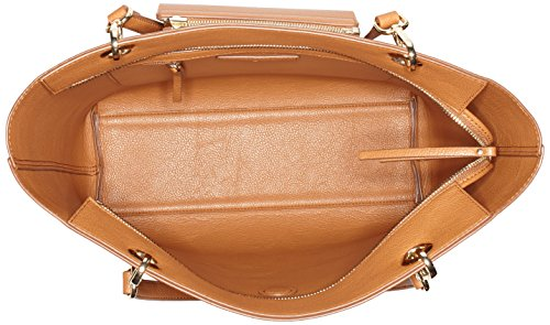 Tommy Hilfiger - Effortless Novelty Tote Stripe, Borse Tote Donna Marrone (Cognac/ Gold Stripe)