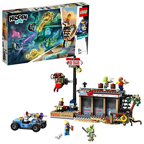 LEGO Hidden Side 70422 Shrimp Shack Attack Construction Set AR Lego Games with Lego app Toys for 8 Years Old Boys and Girls Interactive Augmented Reality Ghost Playset with 5 minifigures