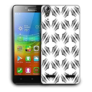 Snoogg White Big Star Designer Protective Phone Back Case Cover For Lenovo A6000