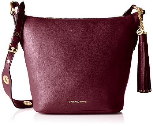 Michael Kors  Brooklyn Md Feed, sac bandoulière femme - violet - Prune, 12x27x24 cm (B x H x T)