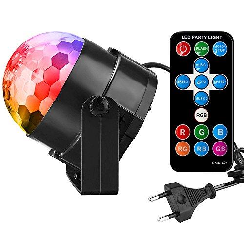 Discokugel Led Disco Lichteffekte, FayTun Led DiscoLicht Partylicht Partybeleuchtung Disco Beleuchtung-7 Farben RGB LED Lichteffekt Beleuchtung mit 3W für Party, Geburtstag und mehr