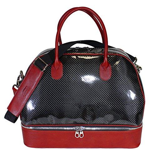 Terrida Carbonio sac à double fond - CB079 (Cuoio) Rouge