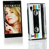 Kit Me Out Kunststoff Aufsteckhülle für LG Optimus L9 P760 - Retro Kassette