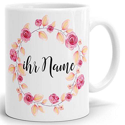 Drucksaal Namenstasse-Tasse-Becher-Kaffeetasse-mit Name-mit Namen Individuell und persönlich Motiv...