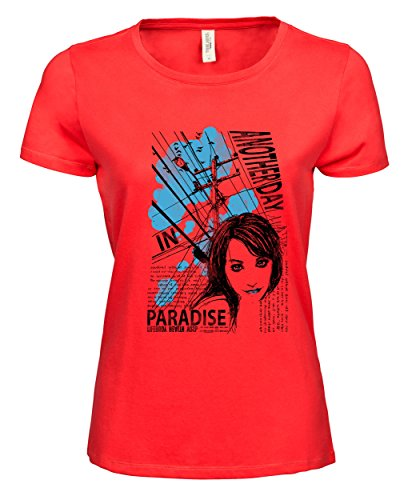 makato Damen T-Shirt Luxury Tee Life Paradise Coral
