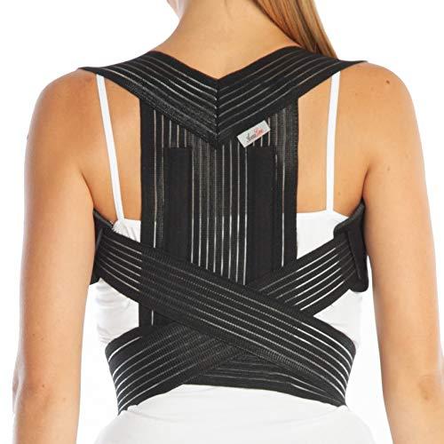 Geradehalter zur Haltungskorrektur - Haltungsbandage - Rückenbandage für perfekte Haltung (M, schwarz)
