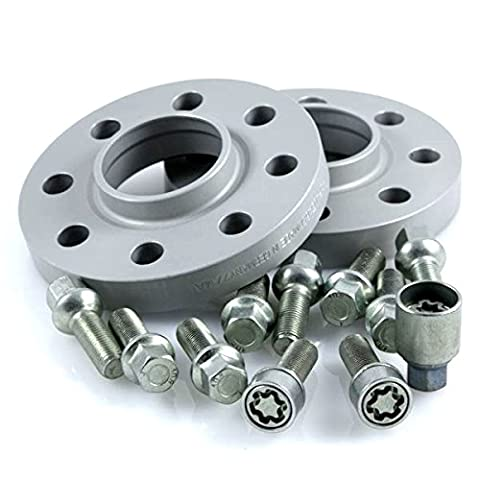 TuningHeads/H&R .0424490.DK.55571-15.A6-TYP-4F ABE Spurverbreiterung, 30 mm/Achse + Radschrauben + Felgenschlösser, 30