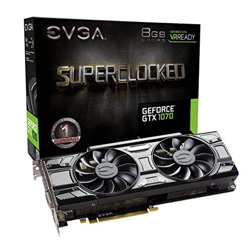 EVGA NVIDIA GeForce GTX 10708GB SC Gaming ACX 3.0- Tarjeta gráfica (1920Core, 1594MHz GPU, 1784MHz Boost) negro