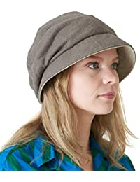 d484a4063397c Casualbox Womens Sun Hat Organic Cotton Reversible Japanese Design Brown