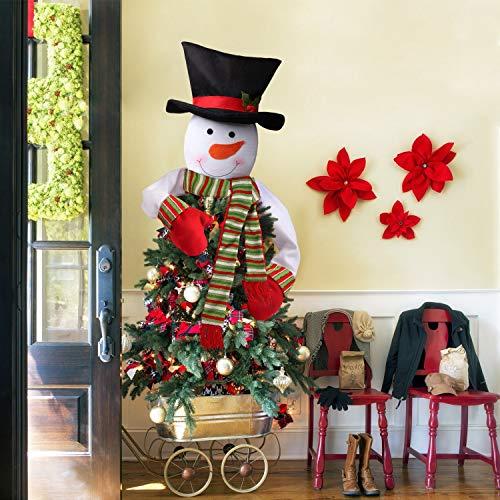 Lionsoul Happy Event Schneemann Hut Weihnachtsbaum Topper Schneemann Top Hat Weihnachtsbaum Topper Decor Urlaub Weihnachtsbaumschmuck Dekorationen Neujahrs-Dekor