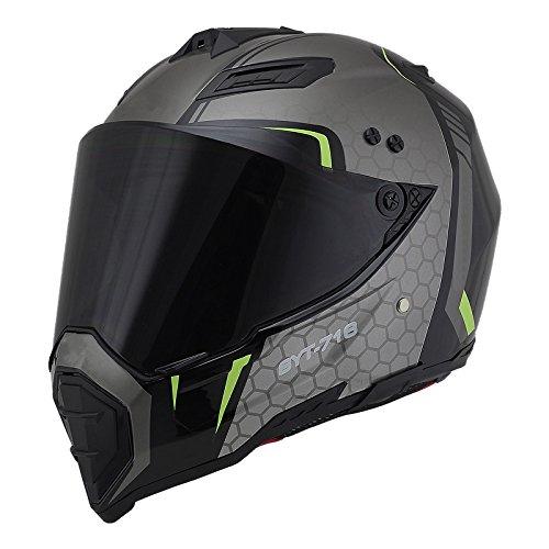 Woljay Off Road Helm Motocross-Helm Motorradhelm Motocrosshelme Fahrrad ATV (XXL, Black+Silver)