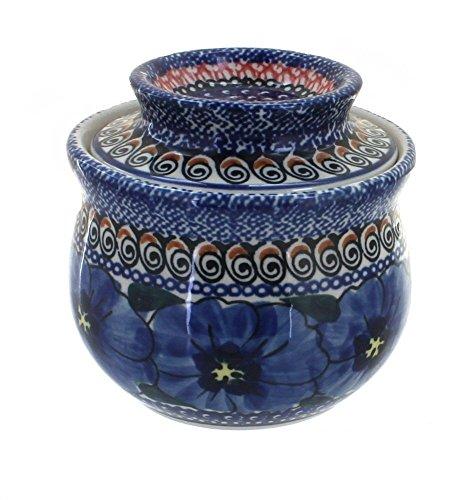 French Art Pottery (Polish Pottery Blue Art French Butter Dish by Zaklady)