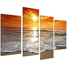Cuadros en Lienzo Grande Amanecer Playa Imágenes XL 4152