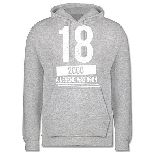 Geburtstag - 18 Geburtstag Jungs - Herren Hoodie Grau Meliert
