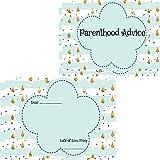 Baby Shower Parent Advice Cards 16 Guests Keepsake Game Activity Mint Raindrop (16 Parenthood Advice Cards)