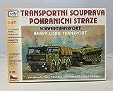 Modellbau Kunststoff Modellbausatz LKW Truck Tatra T 813 6 x 6 Set Tieflader P 32 Panzer BVP 1 SDV 1:87 H0