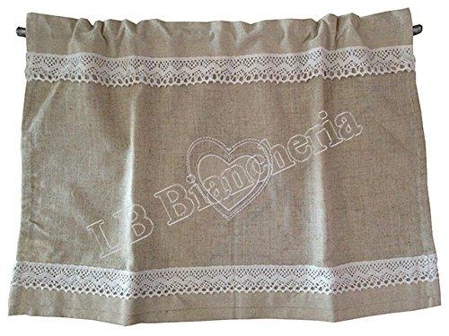 Mantovana tendina Pizzo Macrame cm 40x60 - Country chic Tirolese