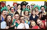 Veewon 40. Geburtstagsfeier Fotorequisiten Fotostand Requisiten Unisex-lustige 36pcs DIY Kit geeignet für seine oder ihre 40. Geburtstagsfeier Fotobooth Stütze - 2