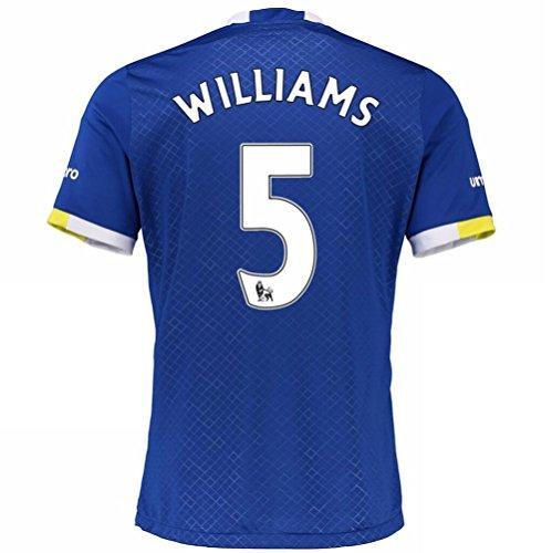 20162017Everton FC maglietta 5Ashley Williams casa calcio maglia Kit in blu, Uomo, Blue, XL
